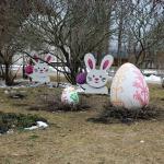 Lieldienu zaķi un krāsainās olas Cēres pagastā