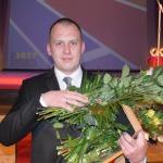 """Nominācijā """"Sporta atbalstītājs"""" galveno balvu saņēma uzņēmuma """"RGR Plus"""" valdes priekšsēdētājs Raivis Bērziņš"""