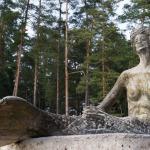 """2015. gads skulptūra """"Nāriņa"""". Foto: Daiga Rēdmane."""