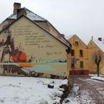 Ojāra Vācieša dzejas siena (Talsu iela 6). Foto: Jānis Kamerāds