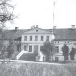 Bijušā Valdeķu muižas dzīvojamā ēka 1991. gads. Foto: M.Ludaks. I.Dišlere, A.Ozola.