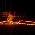 2011.gada novembris. Kandavas Internātskolas izveidotā Latvija par godu valsts 93.jubilejai. Foto: Egils Rēdmanis