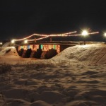 2006.gada Ziemassvētkos. Vecākais laukakmeņu tilts Latvijā vai pat Ziemeļeiropā. Kandava. Foto: Egils Rēdmanis