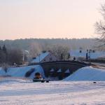 2018. gada februārī. Latvijas vecākais laukakmeņu tilts atrodas Kandavā. Foto: Jānis Kamerāds