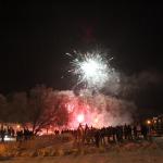 Salūts Kandavas promenādē sagaidot 2016.gadu. Foto: Jānis Kamerāds
