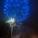Salūts Kandavā sagaidot 2015.gadu. Foto: Daiga Rēdmane