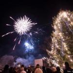 Salūts Kandavas promenādē sagaidot 2016.gadu