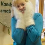"""Pasākums """"Satiec savu meistaru 2015"""" - suņa vilnas cimdiņi. Foto: E.Rēdmanis."""