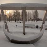 Kārļa Mīlenbaha parks ar saules pulksteni. Foto: Daiga Rēdmane